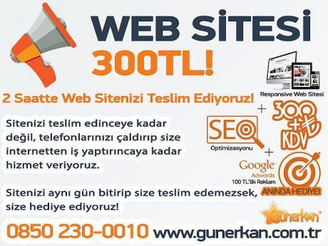 2 Saatte Web Sitesi 300 TL